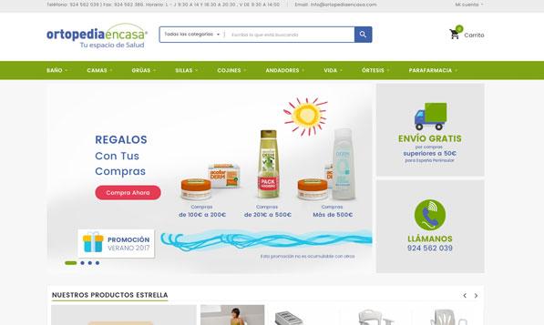 Diseño Tienda Online Prestashop Ortopedia en Casa