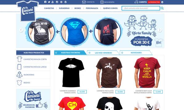 Tienda Online Prestashop de Camisetas