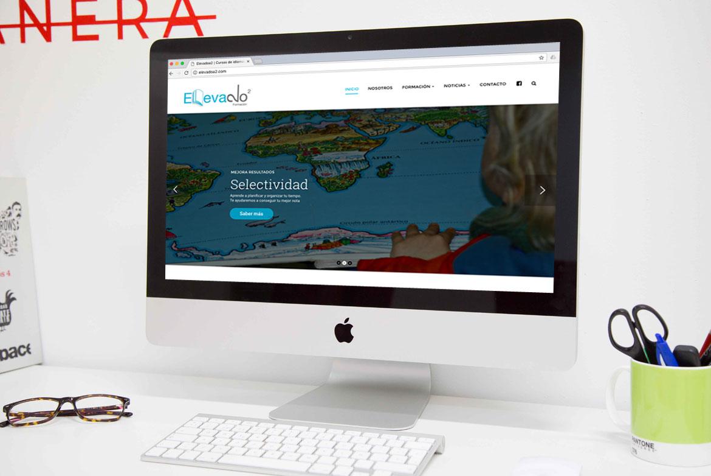 Web WordPress Formación Elevado a dos