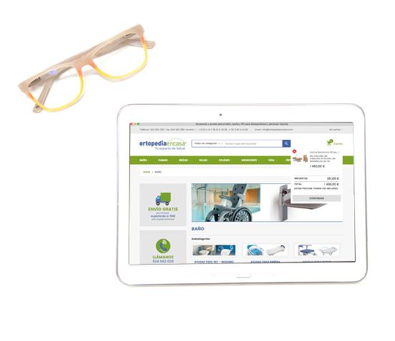 Tienda online Ortopedia en casa responsive
