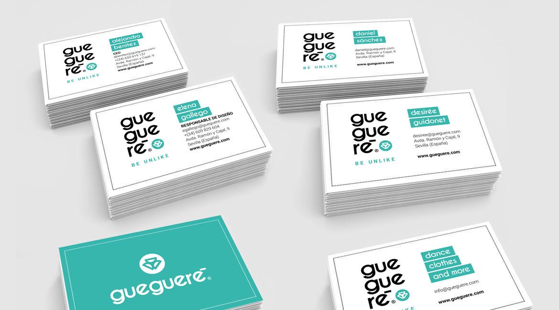 Diseño de tarjetas de visita Guegueré