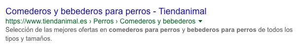 SERP Resultado de búsqueda en Google