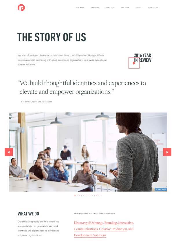 Páginas Quiénes Somos Focuslabllc