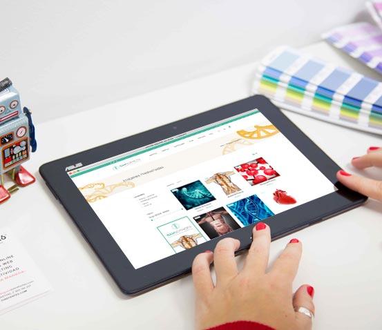 Tienda Online IlluSciences versión tablet
