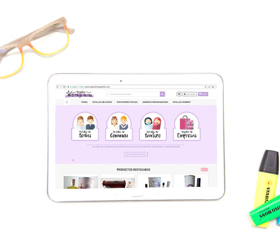 Tienda online Regalos El Mago de Mei versión tablet