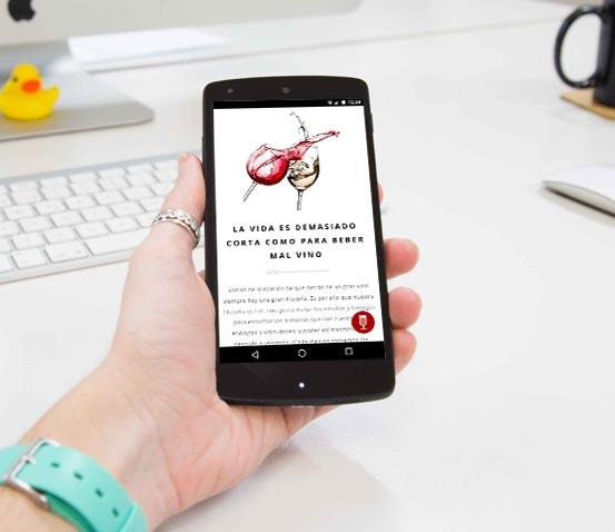 Tienda Online de Vinos versión móvil