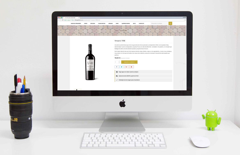 Ficha Producto Tienda Online de Vinos
