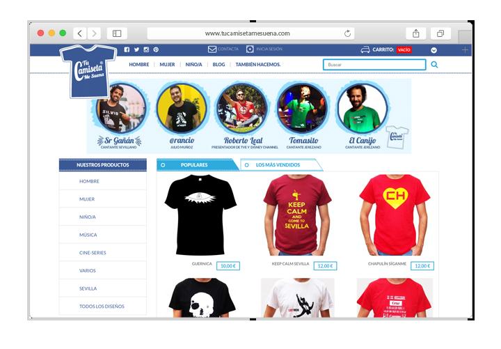 Tienda Online Prestashop Camisetas