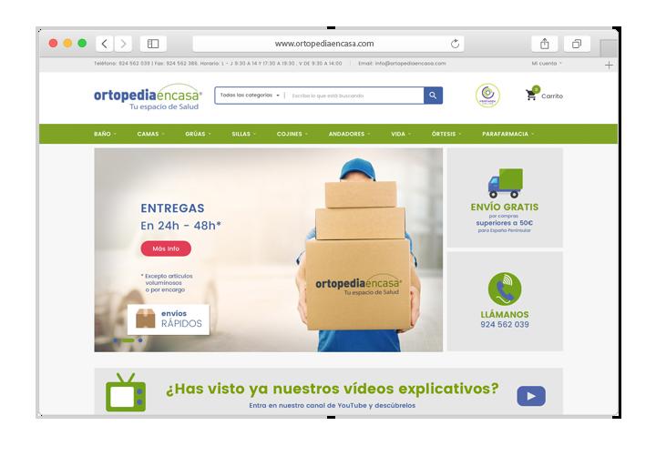Tienda Online Prestashop Ortopedia
