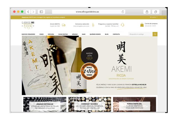 Tienda online Prestashop de Vinos