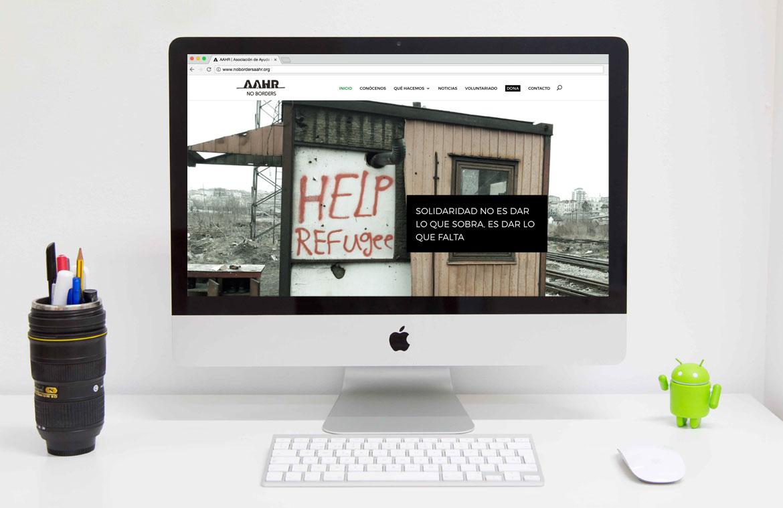 Web AAHR Asociación Refugiados