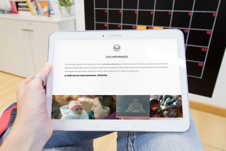 Responsive web AAHR Asociación Refugiados