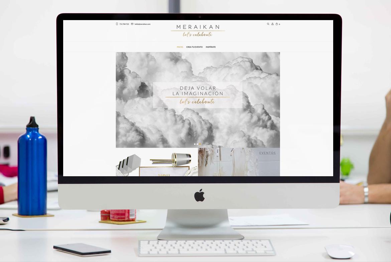 Página de inicio Tienda Online Meraikan